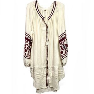 NWT Free People In The Clear Embroidered Tunic